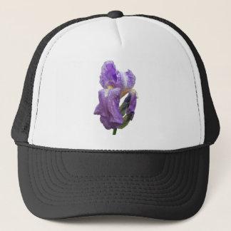 紫色のアイリス写真 キャップ