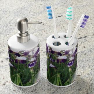 紫色のアイリス庭 バスセット