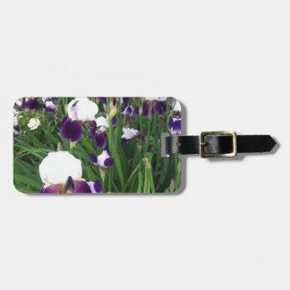 紫色のアイリス庭 ラゲッジタグ