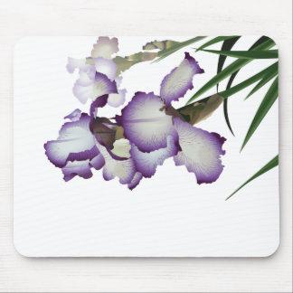 紫色のアイリス春 マウスパッド