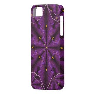 紫色のアイリス花弁の曼荼羅iPhone5の穹窖 iPhone SE/5/5s ケース