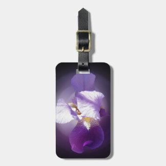 紫色のアイリス花 ラゲッジタグ