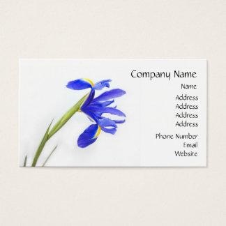 紫色のアイリス花 名刺