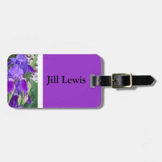 紫色のアイリス荷物のラベル ラゲッジタグ