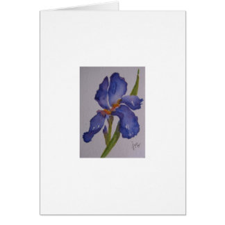 紫色のアイリス カード