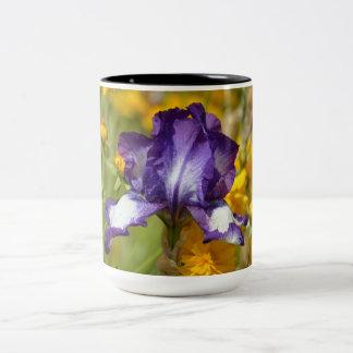 紫色のアイリス ツートーンマグカップ