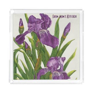 紫色のアイリス-トレイ アクリルトレー