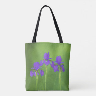 紫色のアイリス トートバッグ