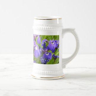 紫色のアイリス ビールジョッキ