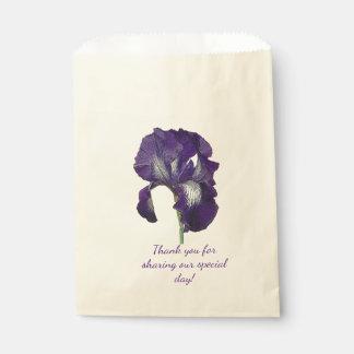 紫色のアイリス フェイバーバッグ