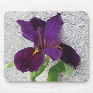 紫色のアイリス マウスパッド