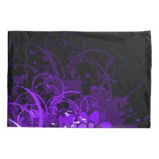 紫色のアクリルの花柄の抽象芸術 枕カバー