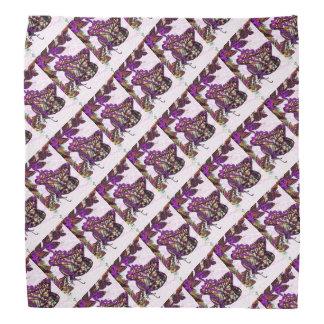 紫色のアゲハチョウの蝶パターン バンダナ