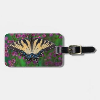 紫色のアゲハチョウの蝶 ラゲッジタグ