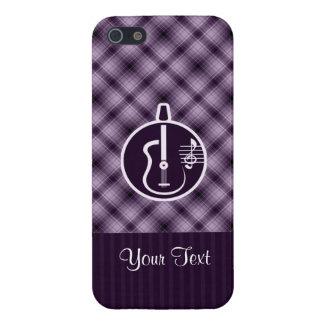 紫色のアコースティックギター iPhone 5 COVER
