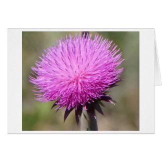 紫色のアザミの花 ノートカード