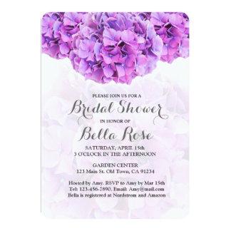紫色のアジサイのブライダルシャワーの招待hydrangea4 カード