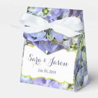 紫色のアジサイの結婚式 フェイバーボックス