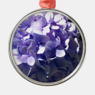 紫色のアジサイ メタルオーナメント