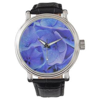 紫色のアジサイ 腕時計
