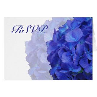 紫色のアジサイRSVPカード ノートカード