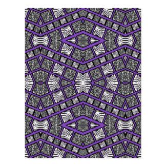 紫色のアニマルプリントの抽象芸術 レターヘッド
