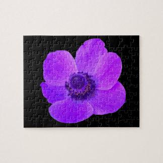 紫色のアネモネのパズル ジグソーパズル