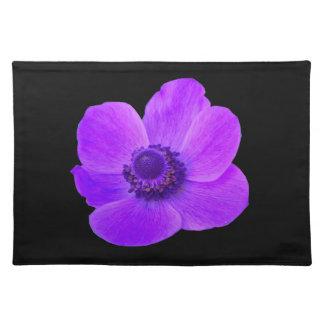 紫色のアネモネのランチョンマット ランチョンマット