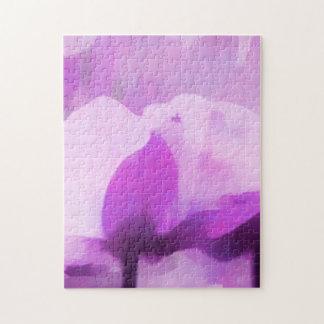 紫色のアネモネの花 ジグソーパズル