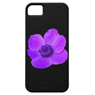 紫色のアネモネのiPhone 5の箱 iPhone SE/5/5s ケース