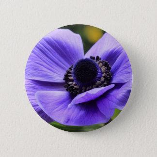 紫色のアネモネ 5.7CM 丸型バッジ