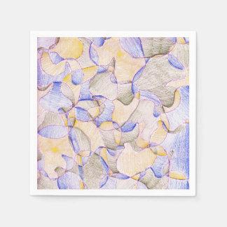 紫色のアヒルのナプキン スタンダードカクテルナプキン