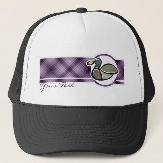 紫色のアヒル キャップ