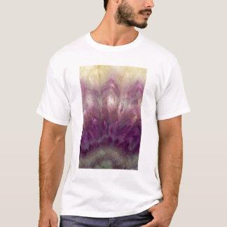 紫色のアメジストの閉めて下さい Tシャツ