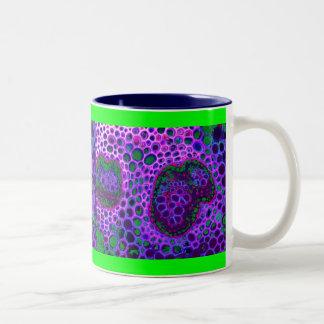 紫色のアメーバ ツートーンマグカップ