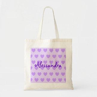 紫色のアレッサンドラ トートバッグ