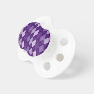 紫色のアーガイル柄のなパターン おしゃぶり