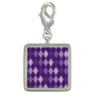 紫色のアーガイル柄のなパターン チャーム