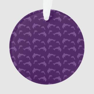 紫色のイルカパターン オーナメント