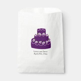 紫色のウエディングケーキ フェイバーバッグ