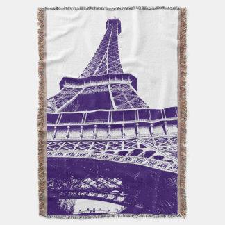 紫色のエッフェル塔 スローブランケット
