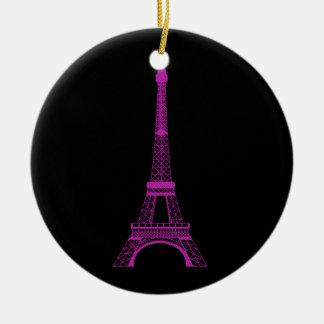 紫色のエッフェル塔 セラミックオーナメント