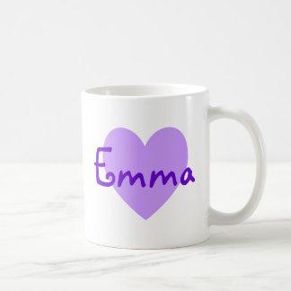 紫色のエマ コーヒーマグカップ