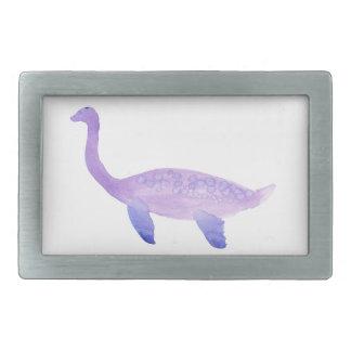 紫色のエラスモサウルス 長方形ベルトバックル