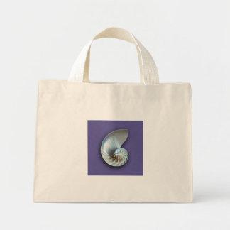 紫色のオウムガイのビーチのバッグ ミニトートバッグ
