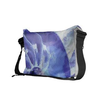 紫色のオウムガイの芸術 クーリエバッグ