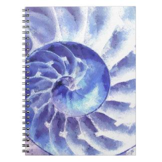 紫色のオウムガイの芸術 ノートブック