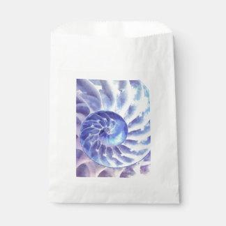 紫色のオウムガイの芸術 フェイバーバッグ
