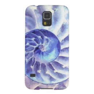 紫色のオウムガイの芸術 GALAXY S5 ケース