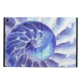紫色のオウムガイの芸術 iPad AIRケース